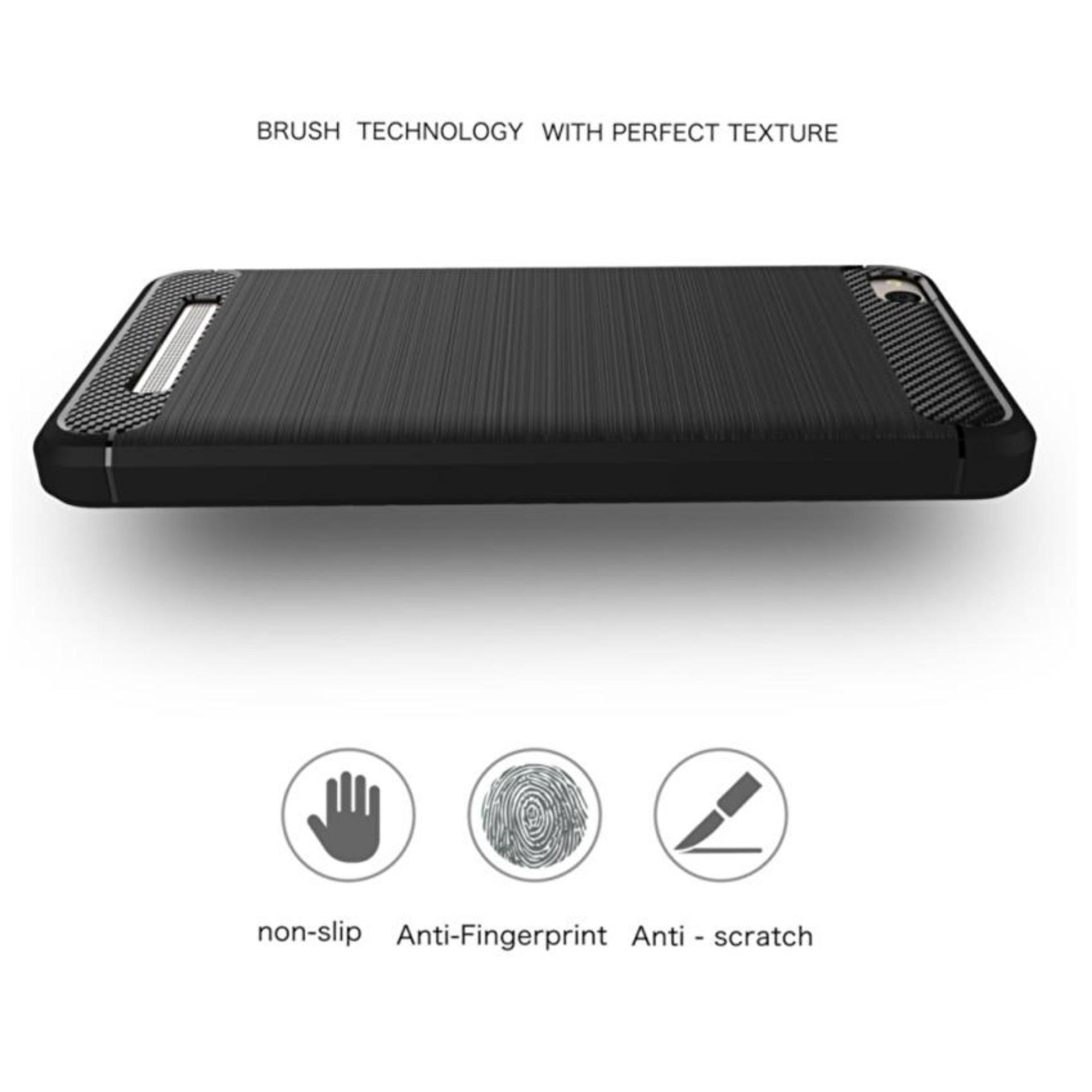 Fitur Ipaky Carbon Fiber Shockproof Hybrid Back Case For Xiaomi Redmi Note 5 Pro Softcase Tpu Backcase 4 Prime