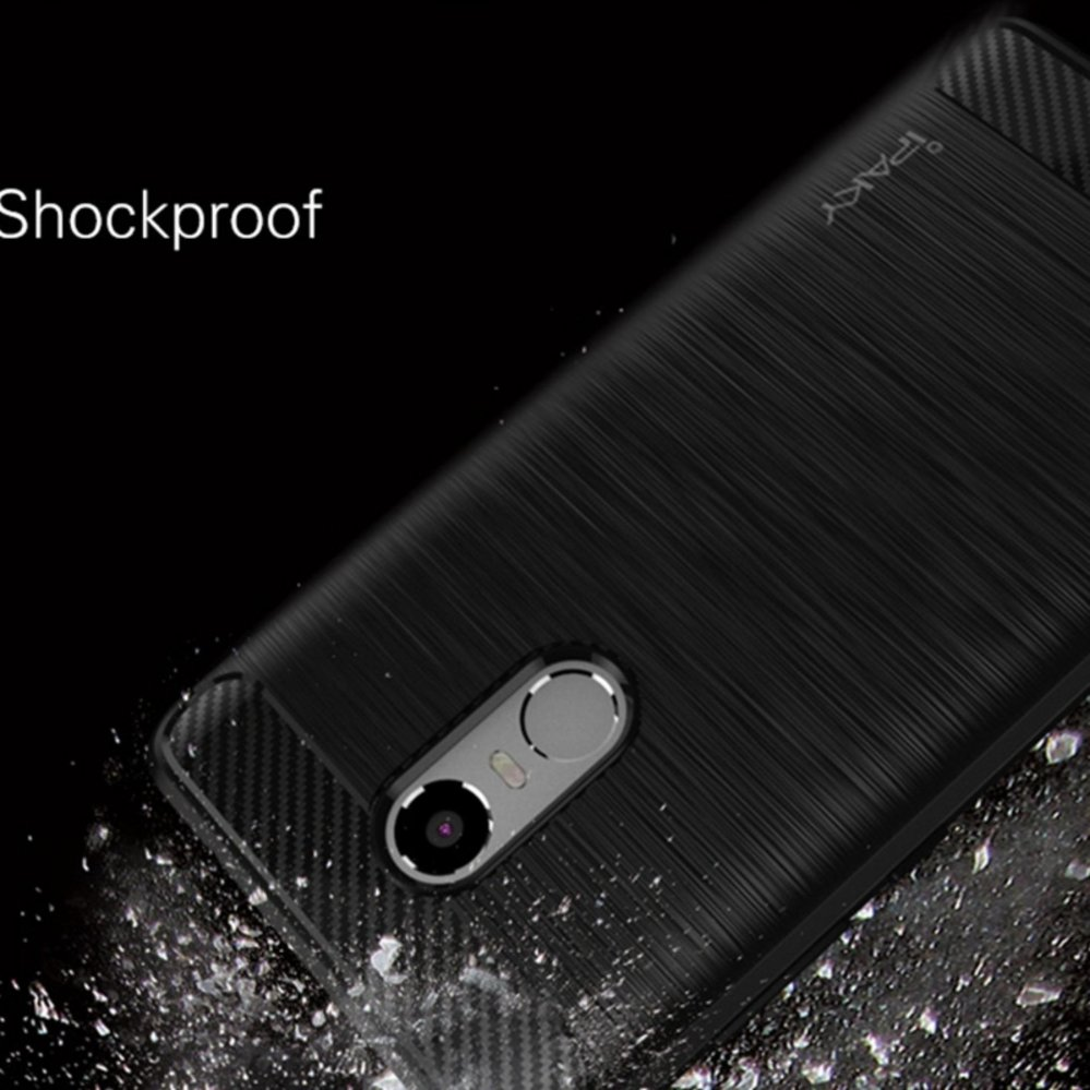 ... 4x Hitam Source · Detail Gambar Renzana iPaky Carbon Fiber Shockproof Hybrid Case for Xiaomi Redmi Note 3 Pro Black
