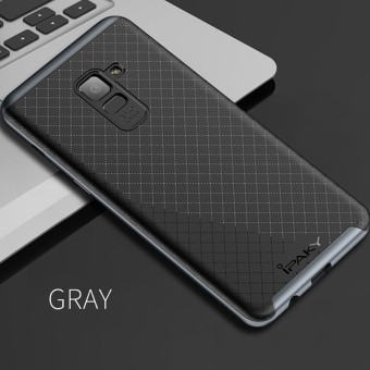 IPAKY Phone Case For Samsung A8 Case 2 In 1 Shock Absorption Anti-fingerprints PC