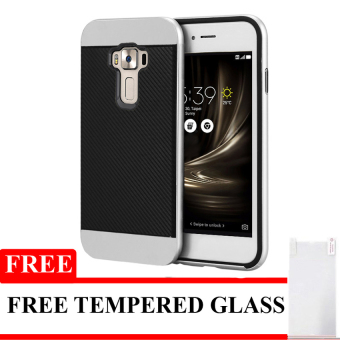 IPAKY Polycarbonate Case Untuk Asus Zenfone 3 5.5 inch - Black - Free Tempered Glass