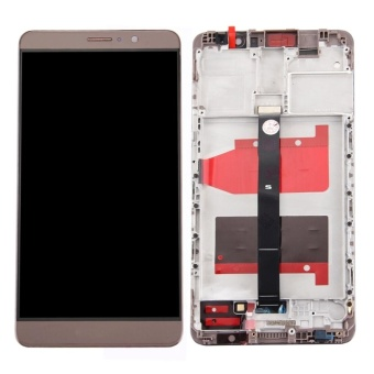 IPartsBuy Huawei Mate 9 LCD Screen + Touch Screen Digitizer Assembly With Frame(Mocha Gold) - intl