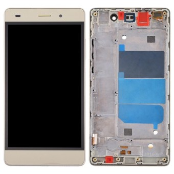 iPartsBuy Huawei P8 Lite LCD Screen + Touch Screen Digitizer Assembly with Frame(Gold) - intl