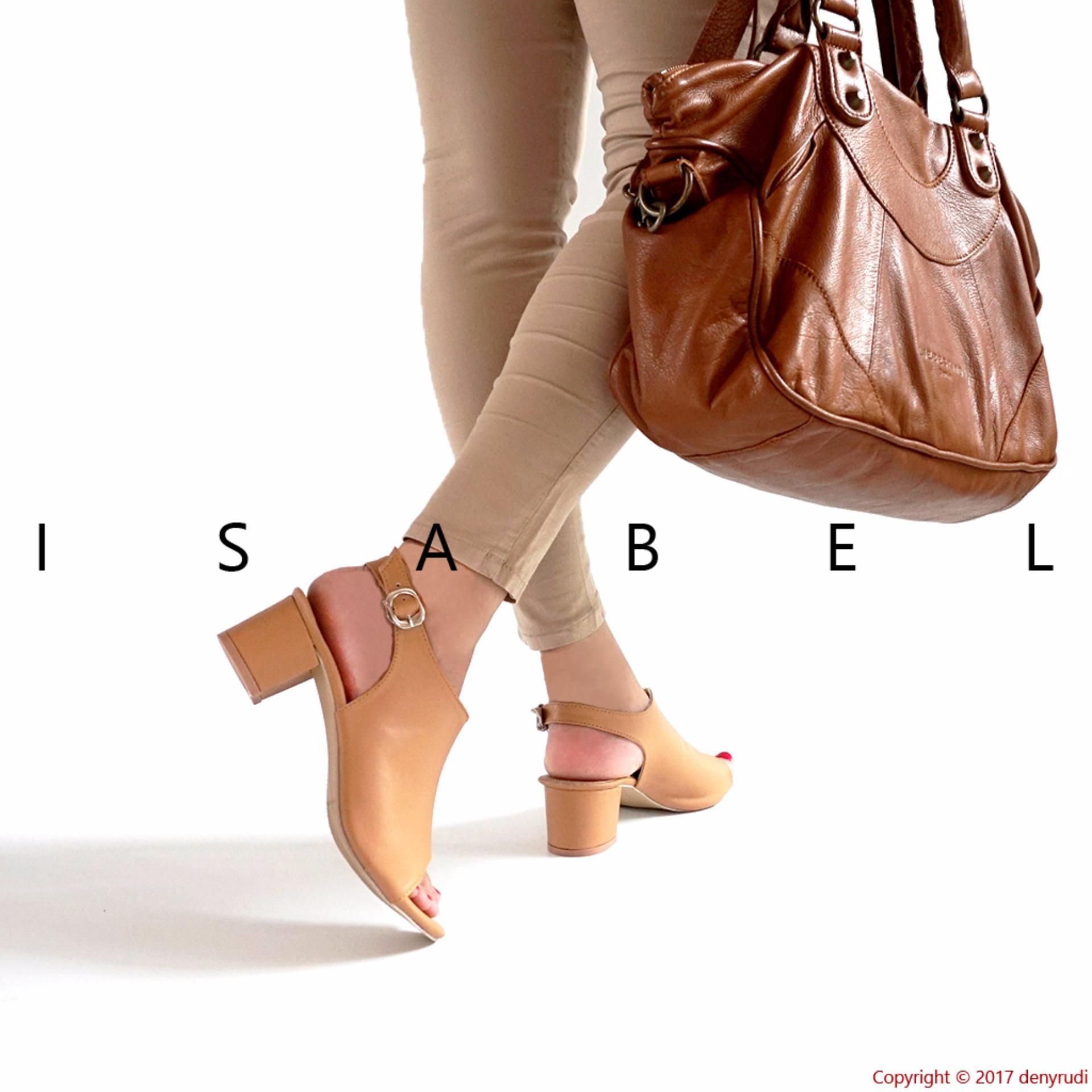 Isabel - Sepatu Wanita Hak Tahu SELENA Heels - Coklat