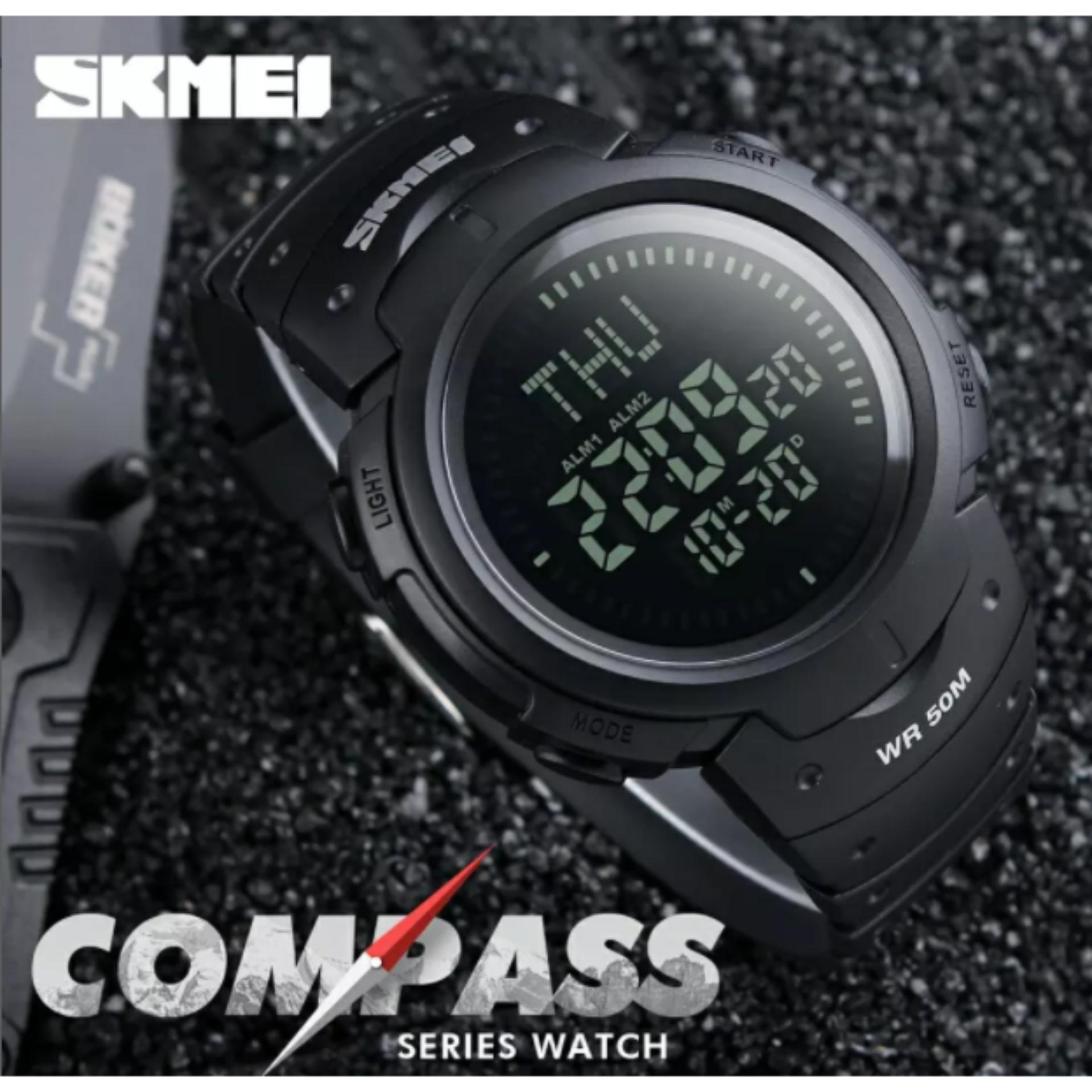 Kelebihan Jam Tangan Pria Digital Sport Skmei 1335 Original Black Casio 1123 Compas Model Suunto Ps036