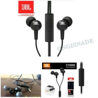 JBL In-Ear Headphone/Handsfree Type C100SI Original by Harman-Hitam