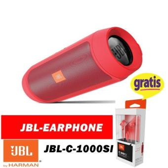 JBL PORTABLE  Charge Mini  SPEACER Original Wireless bluetooth gratis JBL earphone  C100SI