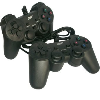 K-One Gamepad Double Getar - Hitam