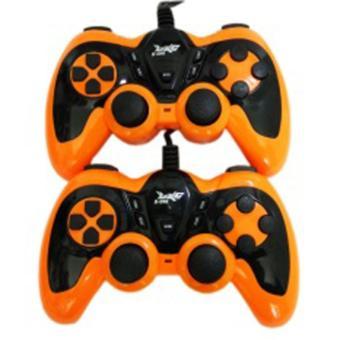 K-ONE Gamepad Double Turbo / Double Joystick USB - Orange