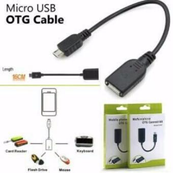 Kabel Cable OTG Micro USB Connection Kit Mobile Phone / Kabel OTG - Hitam