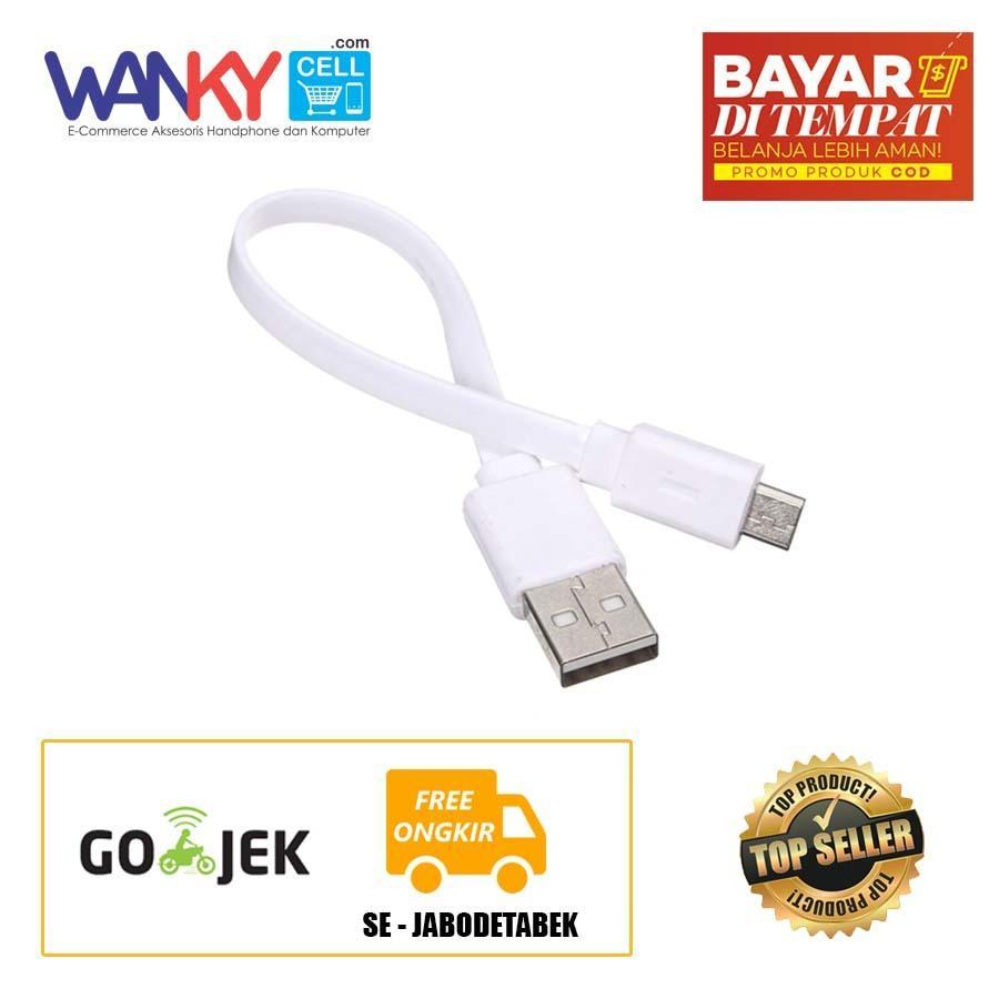 Pencari Harga Kabel Data Charging Power Bank Pipih Micro USB - Putih lowest price - Hanya
