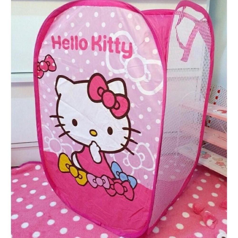 Fitur Anabelle New Karakter Jumbo Model Kotak Keranjang Laundry Baju Bag Good Quality Kotor Lipat Lucu Hello Kitty