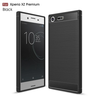 KEYSION Case for Sony Xperia XZ Premium 5.5 inch Carbon Fibre Brushed TPU Silicone soft Cover for Sony Xperia XZ Premium E5563 - intl