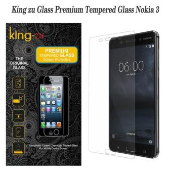 King zu Tempered Glass for Nokia 3 - Anti Gores - Rounded Edge 2.5D
