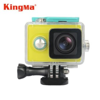 Harga Kingma Original Xiaomi Yi Camera Waterproof Case, Mi Yi 40M DivingSports Waterproof Box, Yi Action Camera aksesoris Accessories(Green) - intl