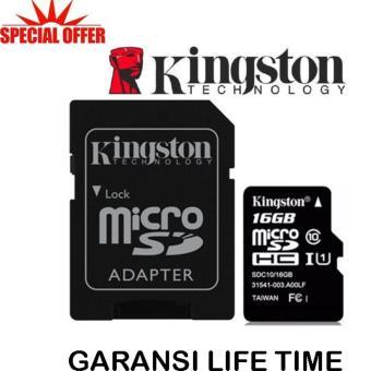 harga Kingston Memory Card MicroSDHC 16GB/80MB UHS-1 Class 10 with Adapter - Hitam Lazada.co.id