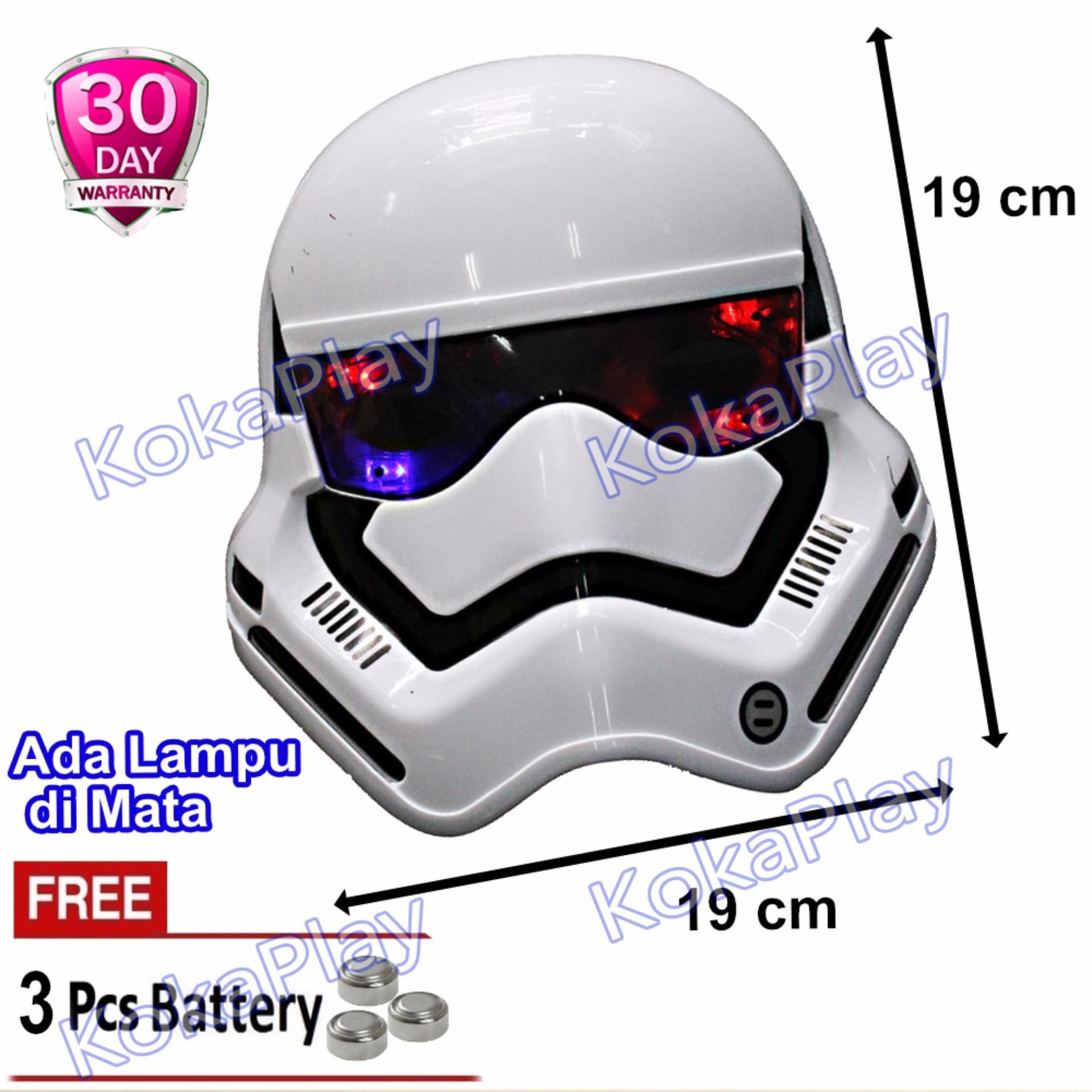 KokaPlay Superhero Mask with Light Mainan Anak Topeng Super Hero Lampu + Free 3 Baterai