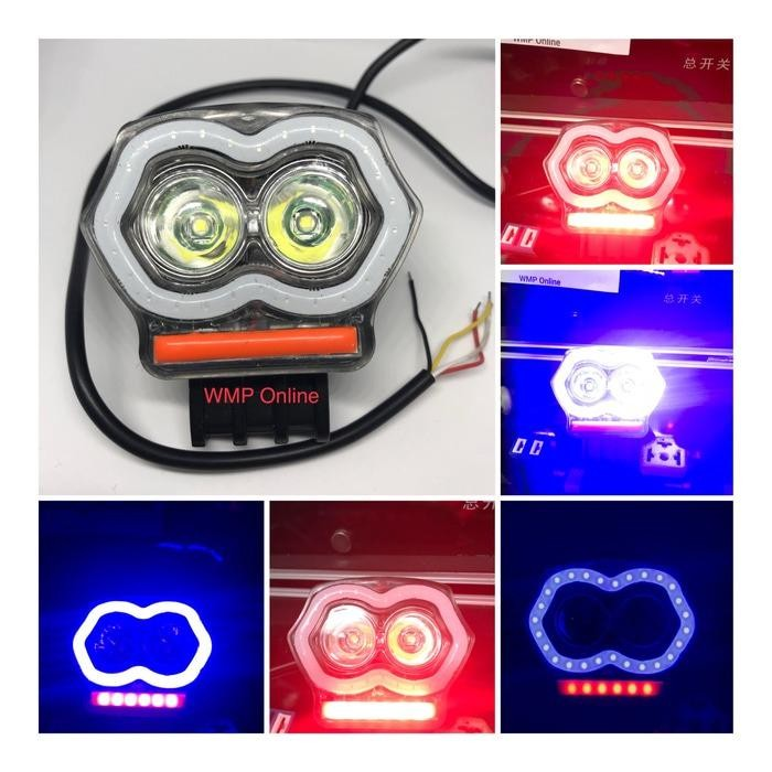 Lampu Tembak Cree A03X 20W Owl 2Led plus USB BR Angel Running WMP-0544