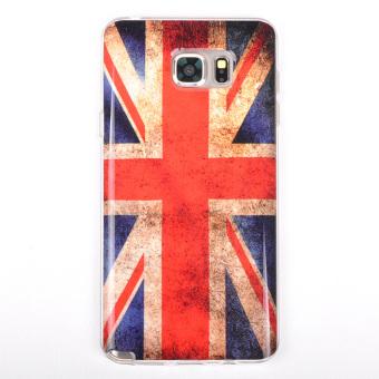 Lancase Soft TPU Gel Case Cover for SAMSUNG GALAXY NOTE 5 Retro UK Flag