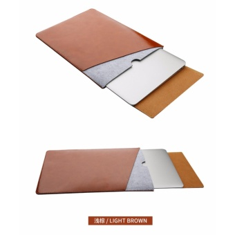 harga Laptop Bag Case Soft Leather Sleeve for MacBook Pro Retina & Air 13 Dual Pocket with Safe Interior and Exterior Mouse Pad - intl Lazada.co.id