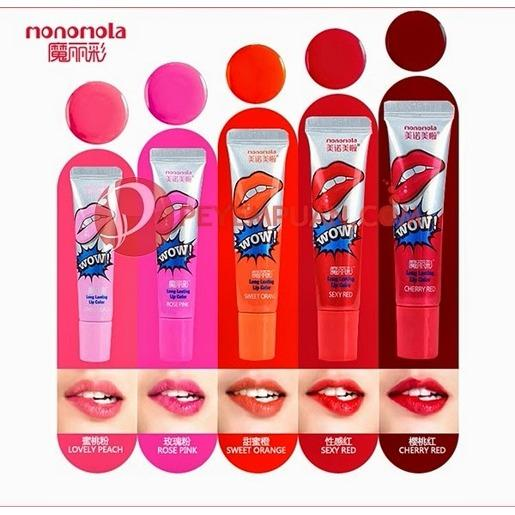 Laris 102 - 2 Pcs Monomola Lips tatto Wow atau Tato Bibir Original Made In Korea