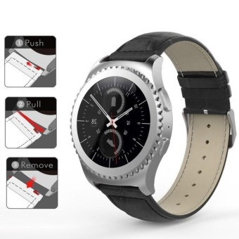Kulit Tali Jam untuk Samsung Galaxy Gear S2 Klasik R732-Intl