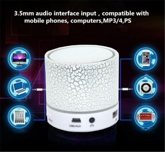 LED MINI Portable Wireless Bluetooth Speaker TF USB Music Sound Subwoofer Box - intl