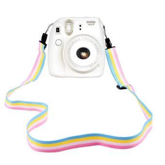 leegoal leher tali sabuk bahu yang dapat kamera untuk kamera Digital/Fujifilm Instax Mini kamera