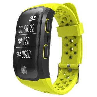leegoal S908 GPS Smart Bands With Heart Rate Sleep Monitor Sedentary Reminder Pedometer IP68 Waterproof Fitness Trackers For Ios Andriod(Yellow) - intl