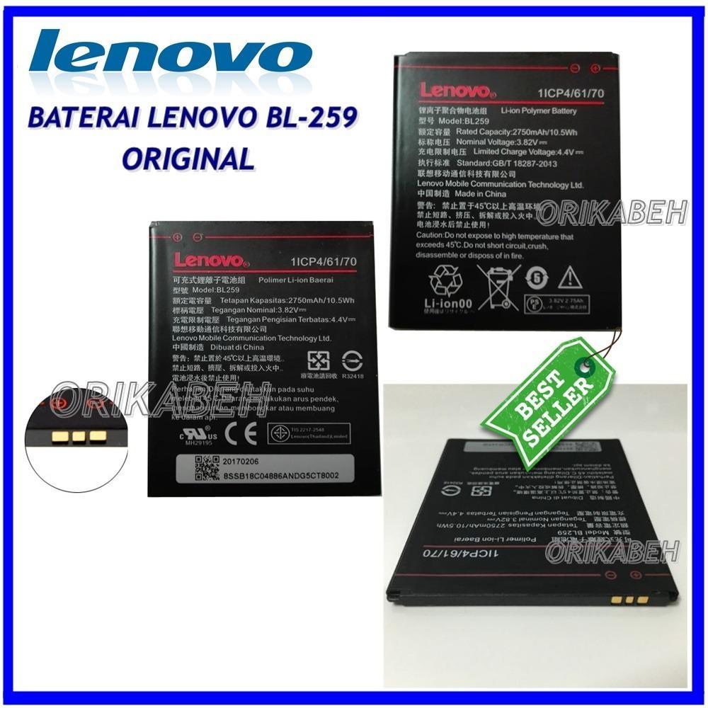 Lenovo Baterai / Battery BL259 Original For Lenovo Vibe K5 / Vibe k5 Plus / Lemon