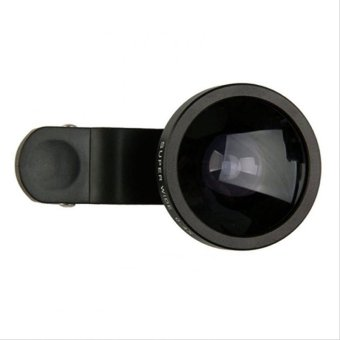 Lensa Quality Universal Clip Lens Super Wide 0.4x - 235 Degree - For Universal Smartphone - Hitam