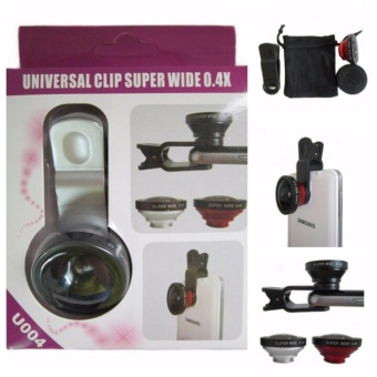 Lensa Superwide 0.4 & Lensa Fish Eye 3 in 1 Universal [ Paket Foto ]