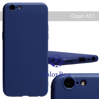 Lize Soft Case Oppo A39 / Oppo A57 Silicone Jelly Soft Shell Back Case - Navy