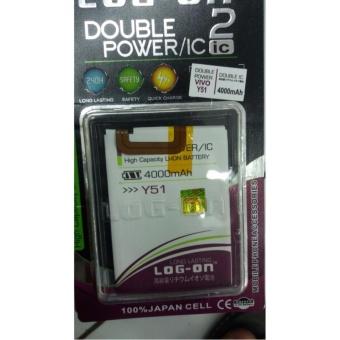 LOG-ON Battery Baterai Double Power VIVO Y51 - 4000mAh
