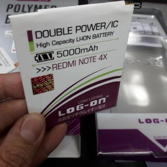 Log On Battery Baterai Double Power XIAOMI REDMI NOTE 4X SNAPDRAGON - 5000mah