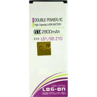 LOG-ON Battery untuk BB Z10 2800mAh - Double Power & IC Battery - Garansi