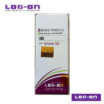 LOG-ON Battery Untuk Iphone 5 / 5G - Double Power & IC - Garansi