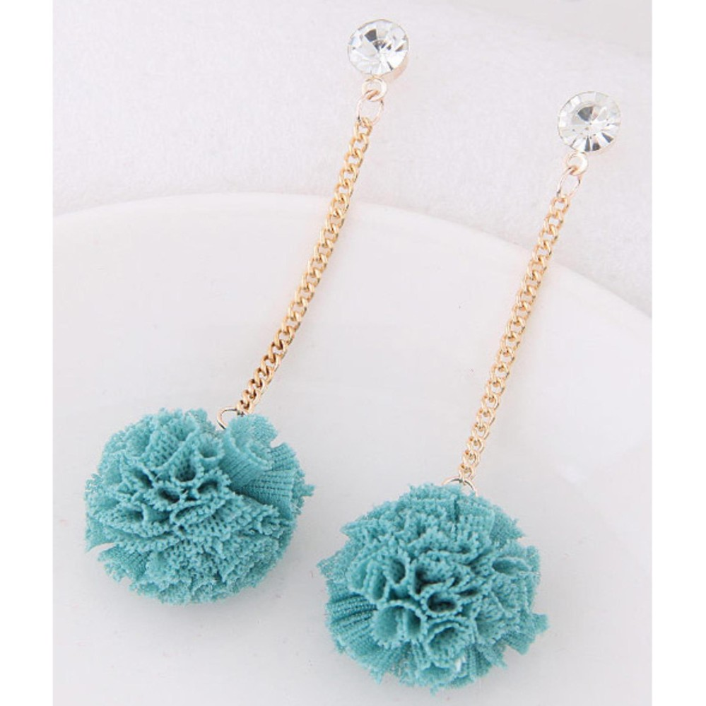 Fuzzy Ball Pendant Decorated Pure Color Simple Earrings. Source · Style simple .