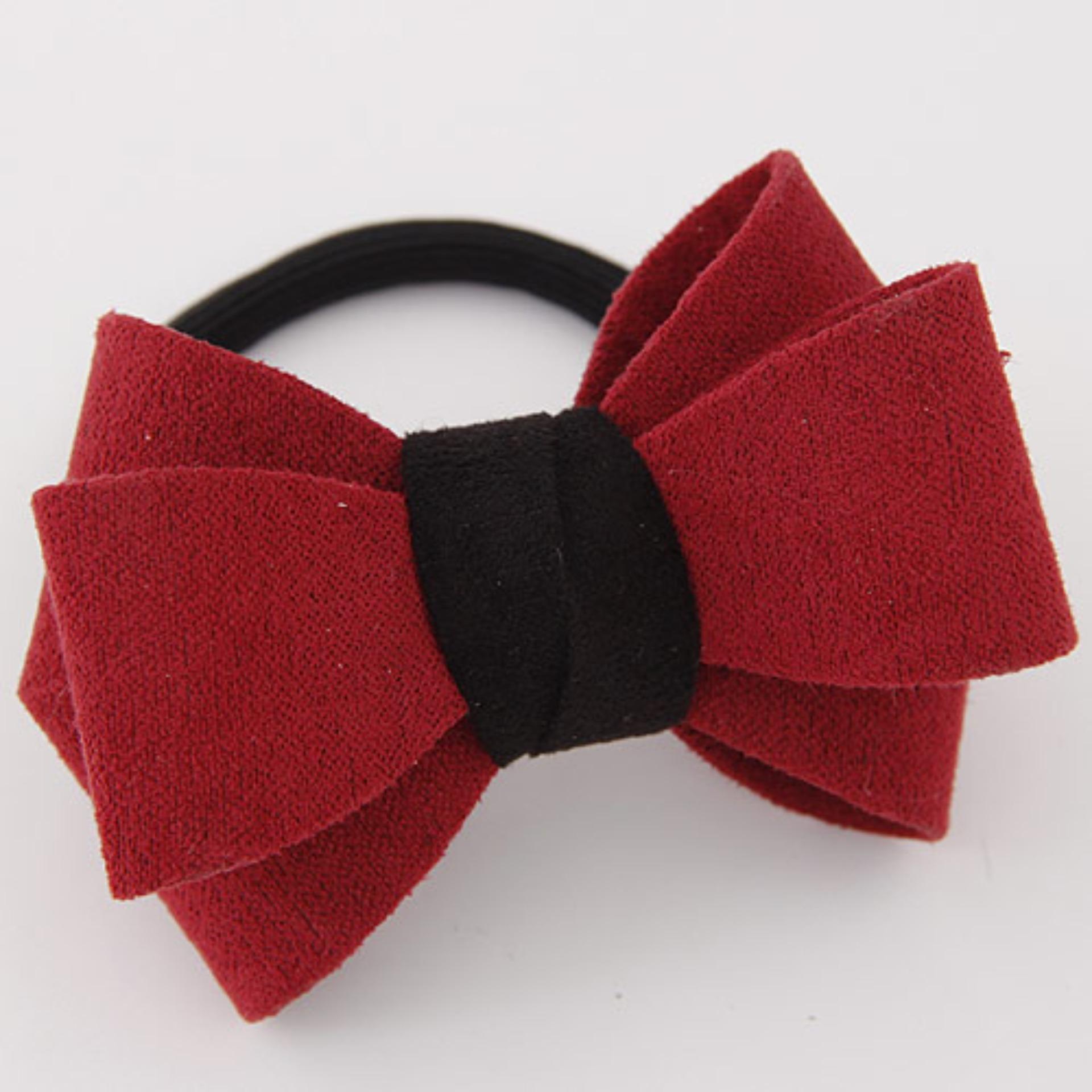 LRC Ikat Rambut Sweet Big Bowknot Decorated Simple Design Rubber Hair band hair hoop