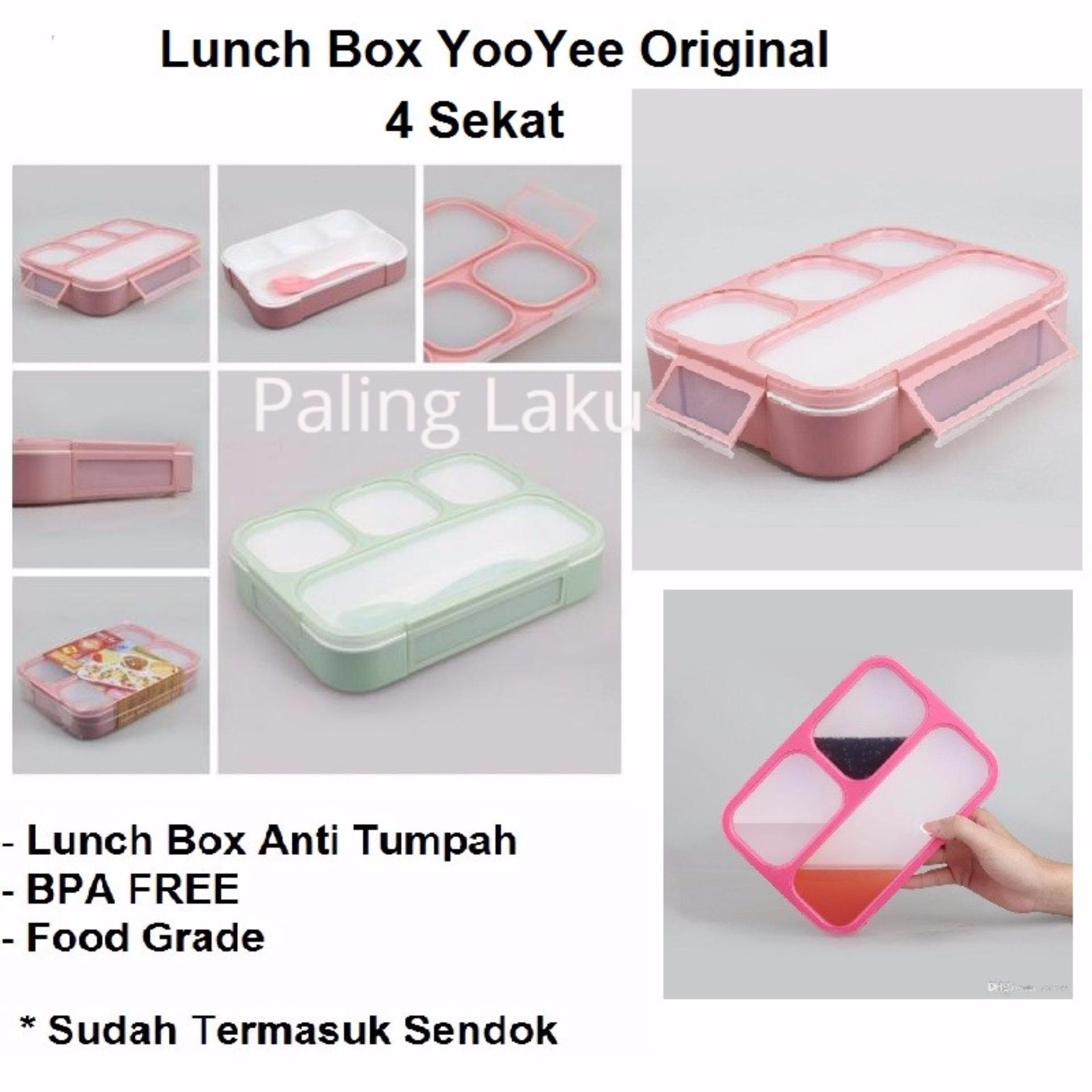 Lunch Box Yoyee Kotak makan yooyee grid bento 4 sekat- 578