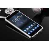 Cermin Mewah Bumper Anti-gores Bright Pelindung Case untuk Nokia 6 (perak)-Intl - 2