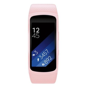 Luxury Silicone Watch Penggantian Tali Pita untuk Samsung Gear Fit 2 SM-R360 -Intl