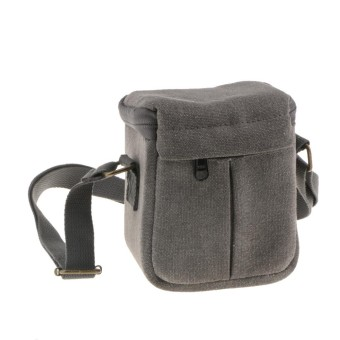 MagiDeal Compact Canvas Case Shoulder Bag Storage Pouch for Mirrorless Camera Grey - intl