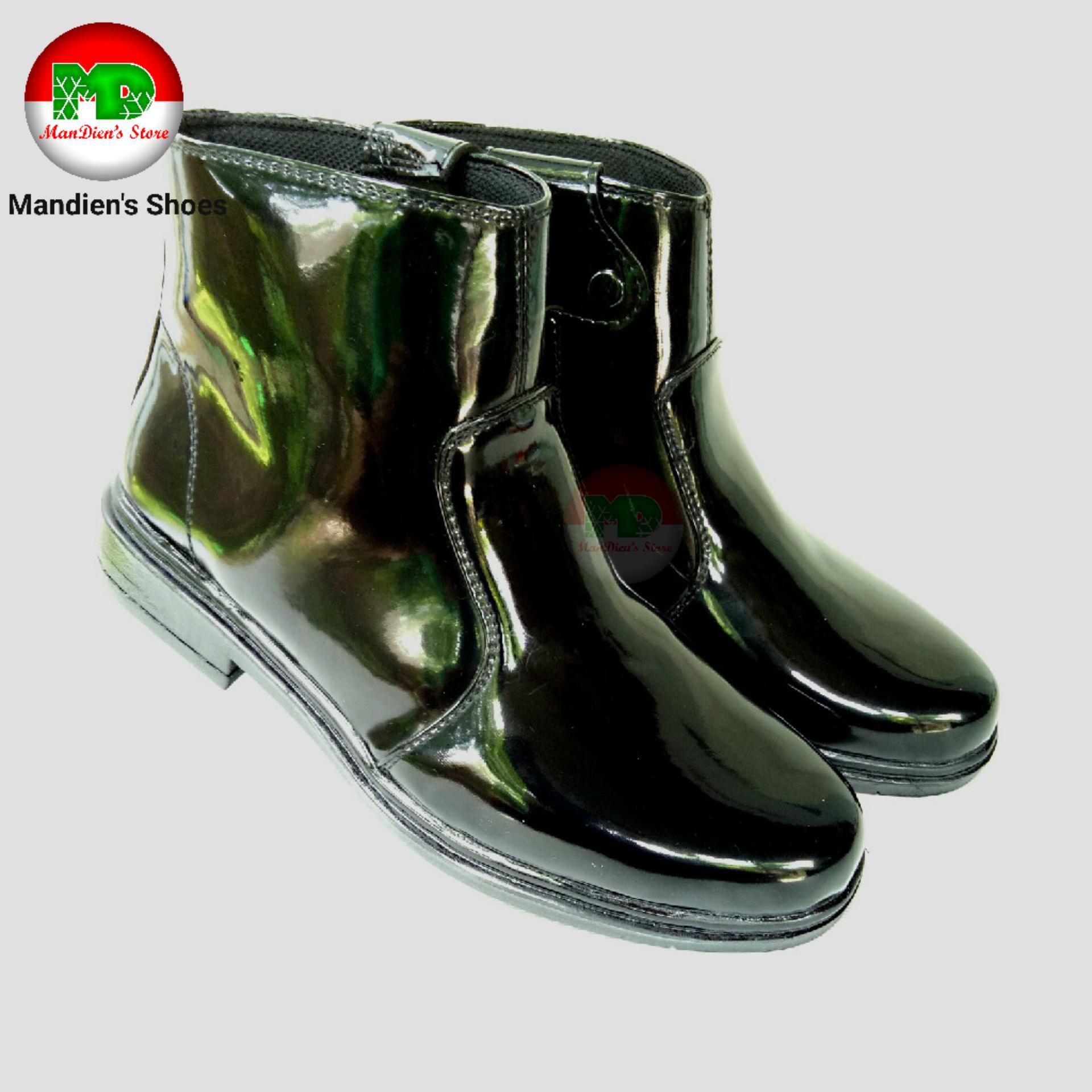 Cek Harga Baru Sepatu Pria Th Pdh Jatah Tni Polri Murah 339bcc Pdl Security Ter Mandiens Boots Super Kilat Ttali Hitam