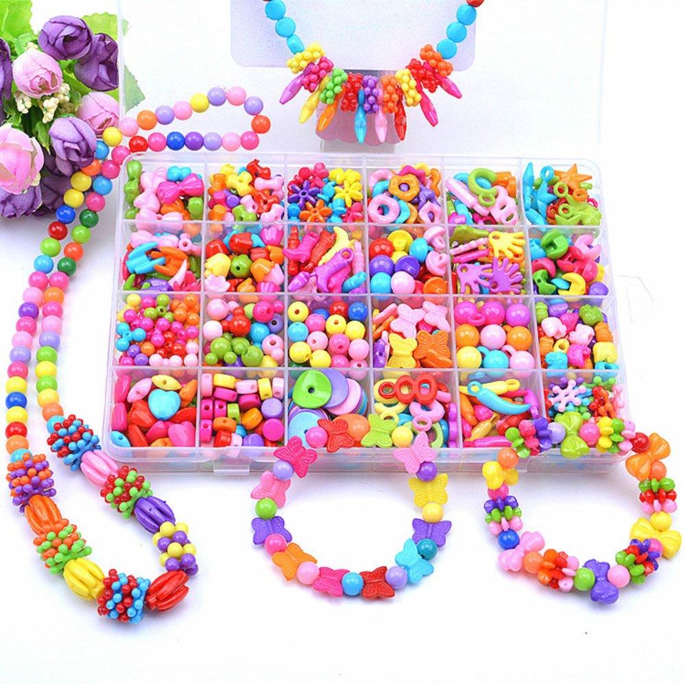 Manik-manik Akrilik Toy Perhiasan DIY For Kalung And Gelang Kerajinan Mainan Pendidikan Anak Usia
