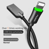 ... Mcdodo Zinc Knight 1.8m Auto Disconnect Lightning Data Cable for iphone7 7plus 6s 6 Breathing ...