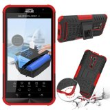 Gambar Produk Rinci Meishengkai Case Untuk Asus Zenfone Go ZB551KL Detachable 2 in 1 Hibrida Armor Desain Shockproof Tough Rugged Dual-Layer case Cover ...