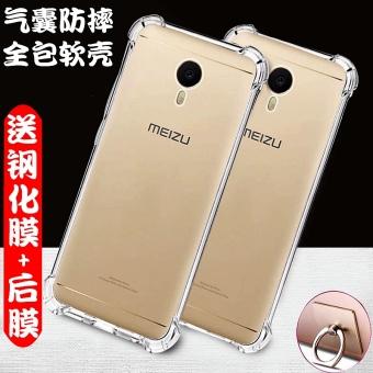 Meizu a5 5c transparan silikon lembut penurunan resistensi lengan pelindung shell telepon .