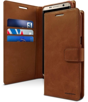 Mercury Blue Moon Diary Case Casing Cover for Samsung Galaxy Note 3 - Coklat
