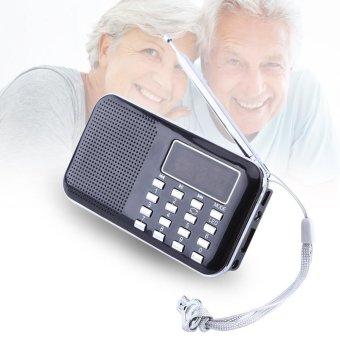Mini Portable LCD Digital FM Radio Stereo Audio Speaker Music Player USB Micro SD TF Card