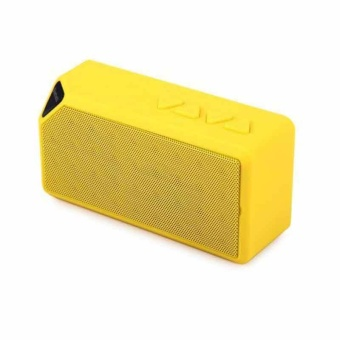Mini Portable Wireless Bluetooth Speaker Outdoor Small Box Audio Radio Card Cube Subwoofer X3 - Yellow